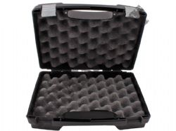 Hard Carry Case for Air Gun Airsoft BB Handgun Black Lined Lockable 25cm x 18cm x 7.5cm